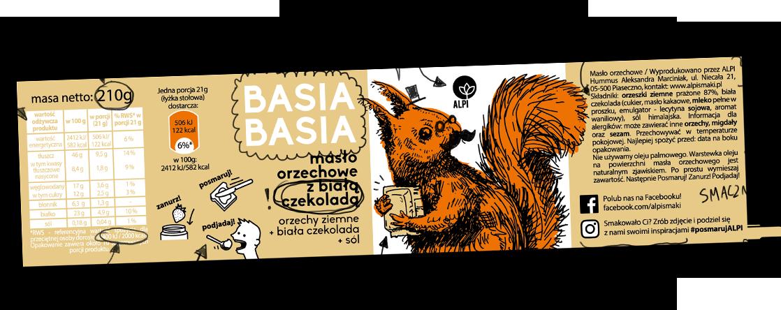 Basia Basia - Orzech z Białą Czekoladą 210g 2