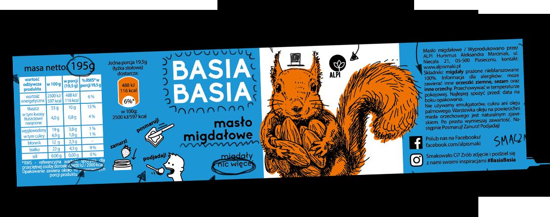 Basia Basia - Migdałowa 210g 1
