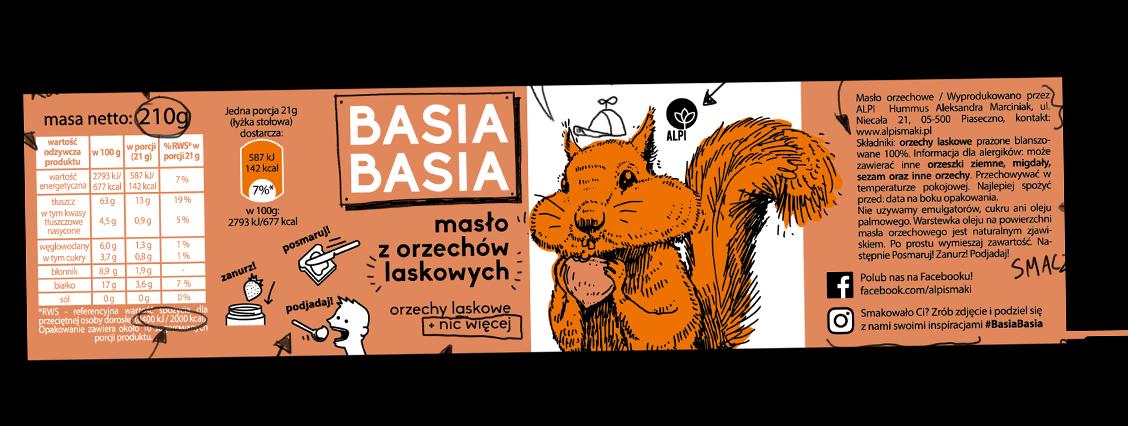 Basia Basia - Orzechy Laskowe 210g 1