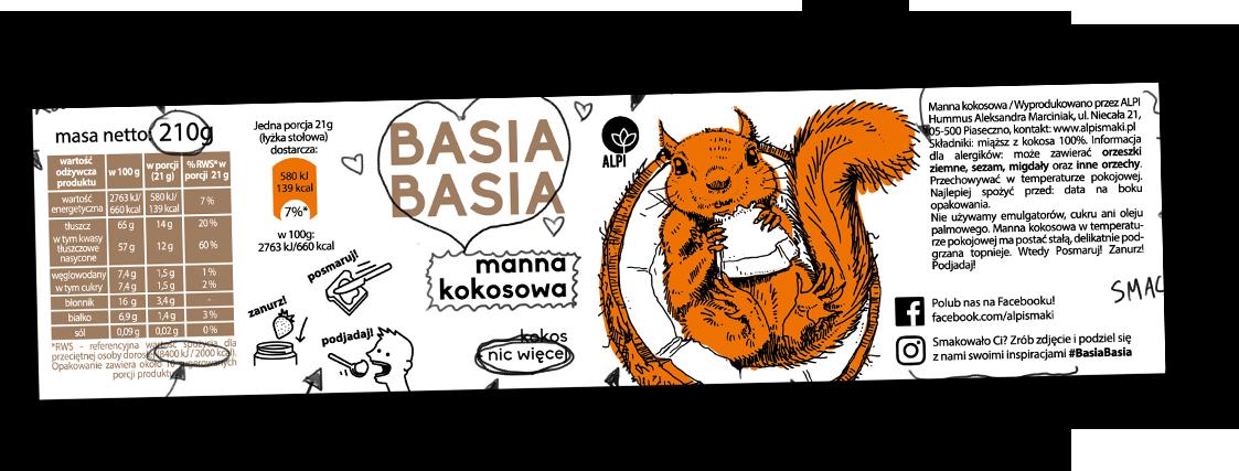 Basia Basia - Manna Kokosowa 210g 2