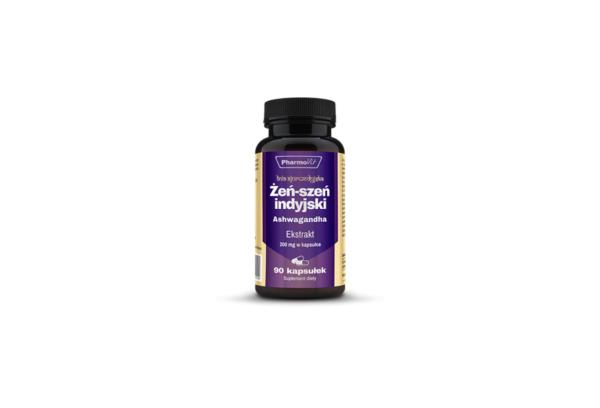Pharmovit Żeń-Szeń Indyjski Ekstrakt 20:1 200 mg 90 kaps. 1