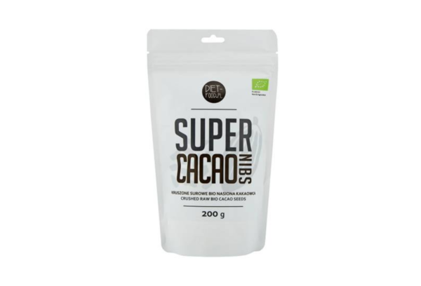 Diet-Food Bio Kruszone Ziarna Kakaowca 200g 1