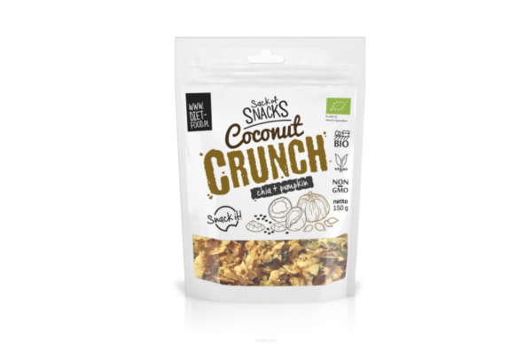 Diet-Food Bio kokosowy crunch - chia + pestki dyni 150g 1