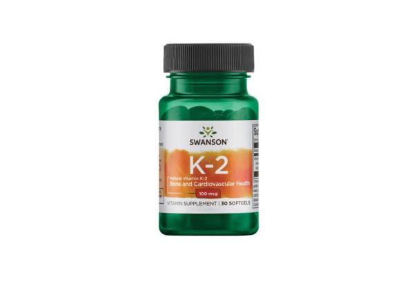 Swanson Vitamin K2 100 30 kaps. 1